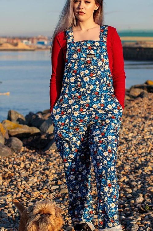Daisy and Ladybird stretch twill dungarees