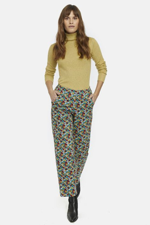 Multi floral straight leg trousers