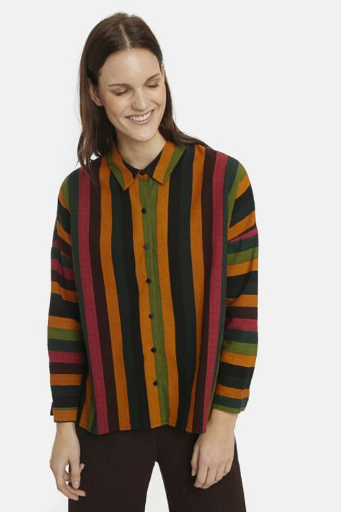 Multicolour striped oversized shirt