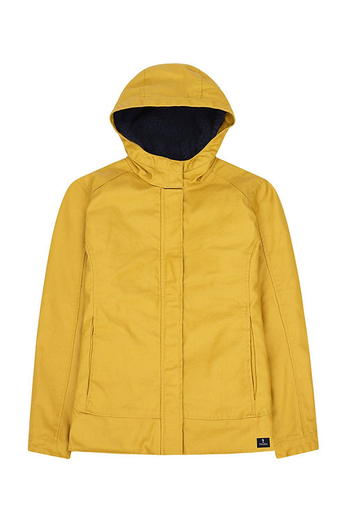 Mustard wax jacket