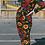 Thumbnail: Retro floral stretch twill boiler suit