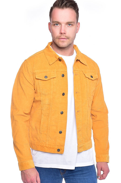 Yellow cord western style jacket by Run & Fly