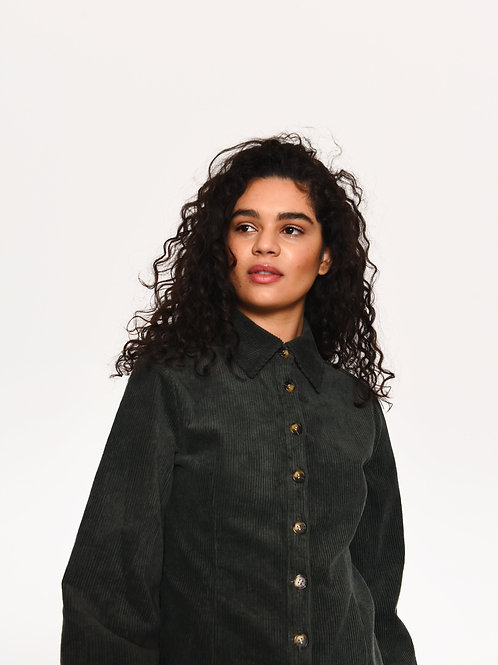 Dark green corduroy shirt