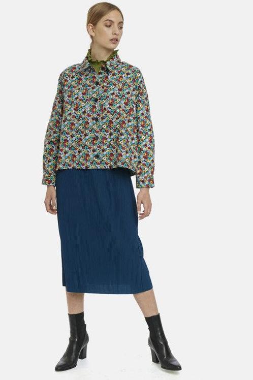 Multi floral overshirt jacket