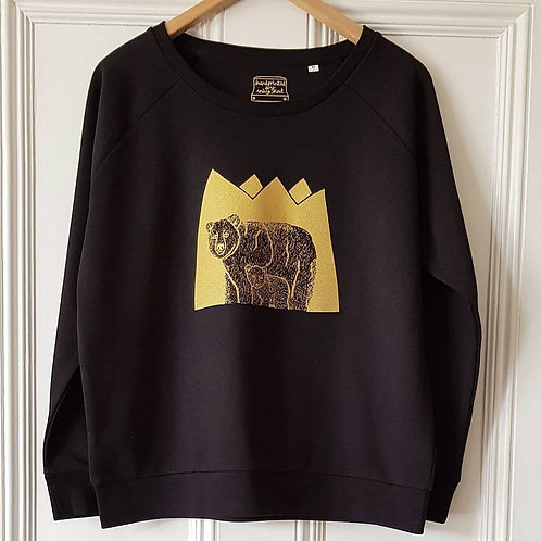 Bear and cub print sweatshirt