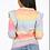 Thumbnail: Rainbow frilled shoulder knit