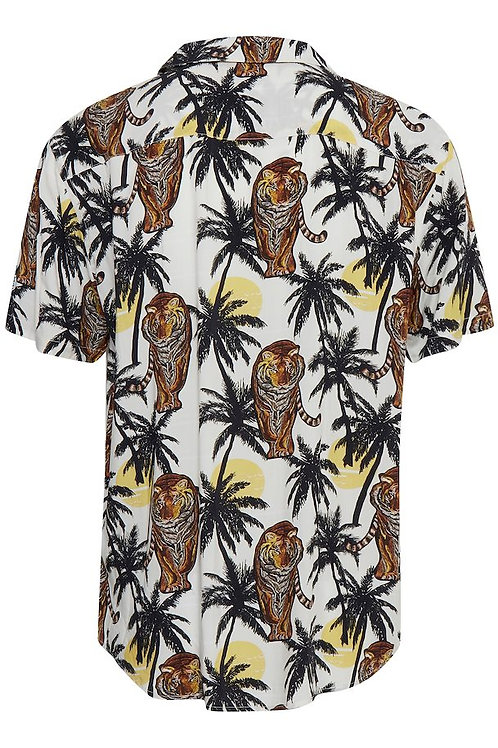Tiger and Palms short sleeved shirt
