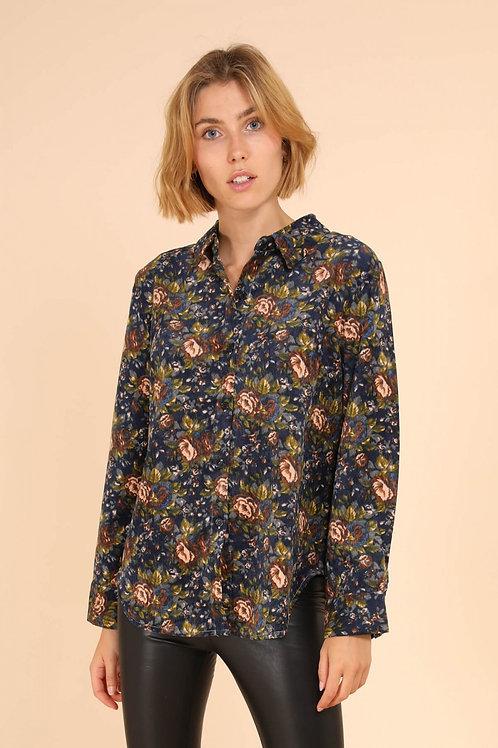 Floral corduroy shirt