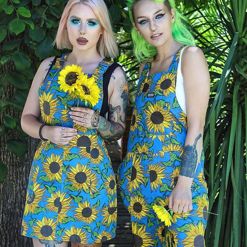 Sunflower pinafore dress in twill cotton
