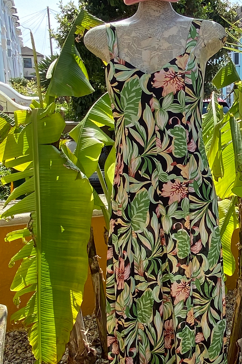 Strappy Jumpsuit - Tropical Jungle