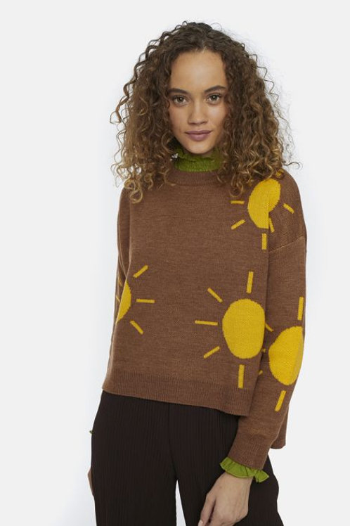 Brown oversized sun jumper