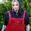 Thumbnail: Red leopard print corduroy dungarees  by Run & Fly