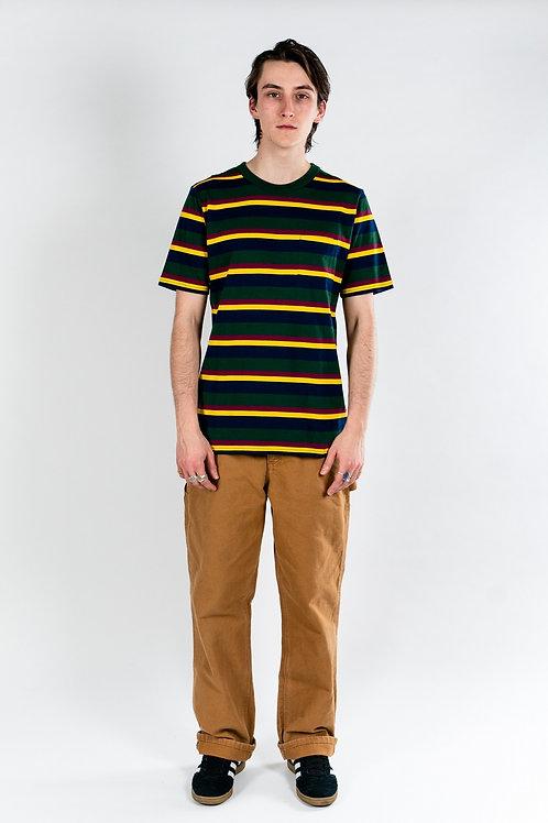 Pocket tee - Green Yellow Navy