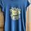 Thumbnail: Lioness print t-shirt - stonewash blue