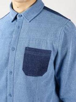 Denim patch shirt