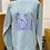 Thumbnail: Wildflower printed sweatshirt - mint green