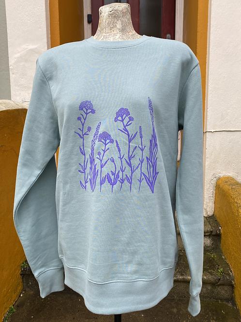 Wildflower printed sweatshirt - mint green