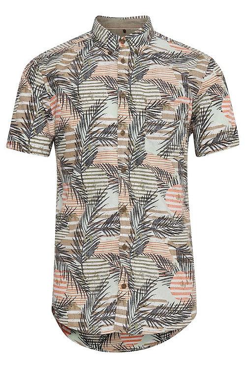 Palm print short sleeved shirt by BLEND