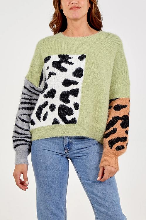 Animal print jumper