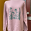 Thumbnail: Wildflower printed sweatshirt - dusty pink