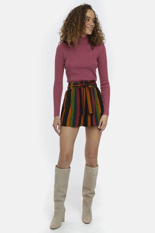 Multicolour striped shorts