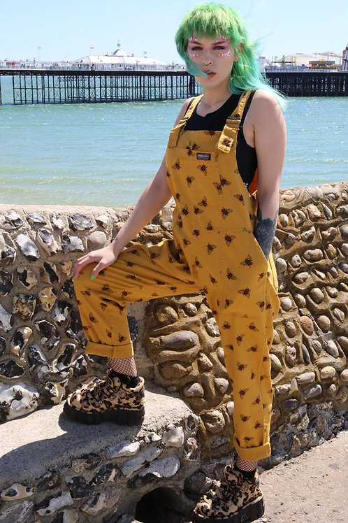 Bee dungarees in twill cotton by Run & Fly