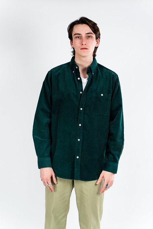 Chunky cord shirt - green