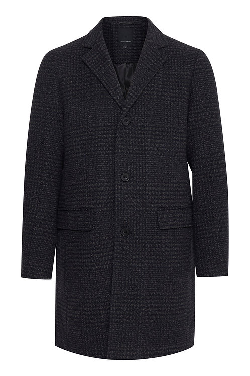 Black/grey checked coat