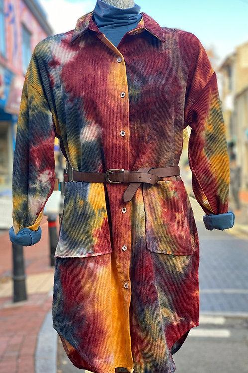 Tie dye printed oversized shirt