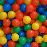 Bunch of colourful plastic balls