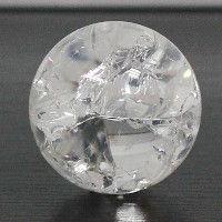 A sphere of glass slightly broken