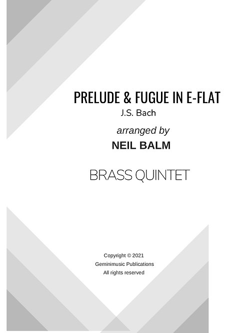 Prelude and Fugue in Eb - J. S. Bach