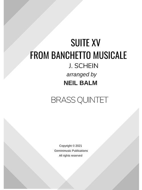 Suite from Banchetto Musicale - J. Schein