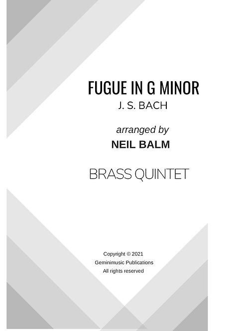 Fugue in G minor - J. S. Bach