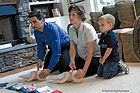 Family Listening to Instructor on how to perform Fist Aid CPR