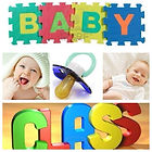 baby laughing with puzzle letters