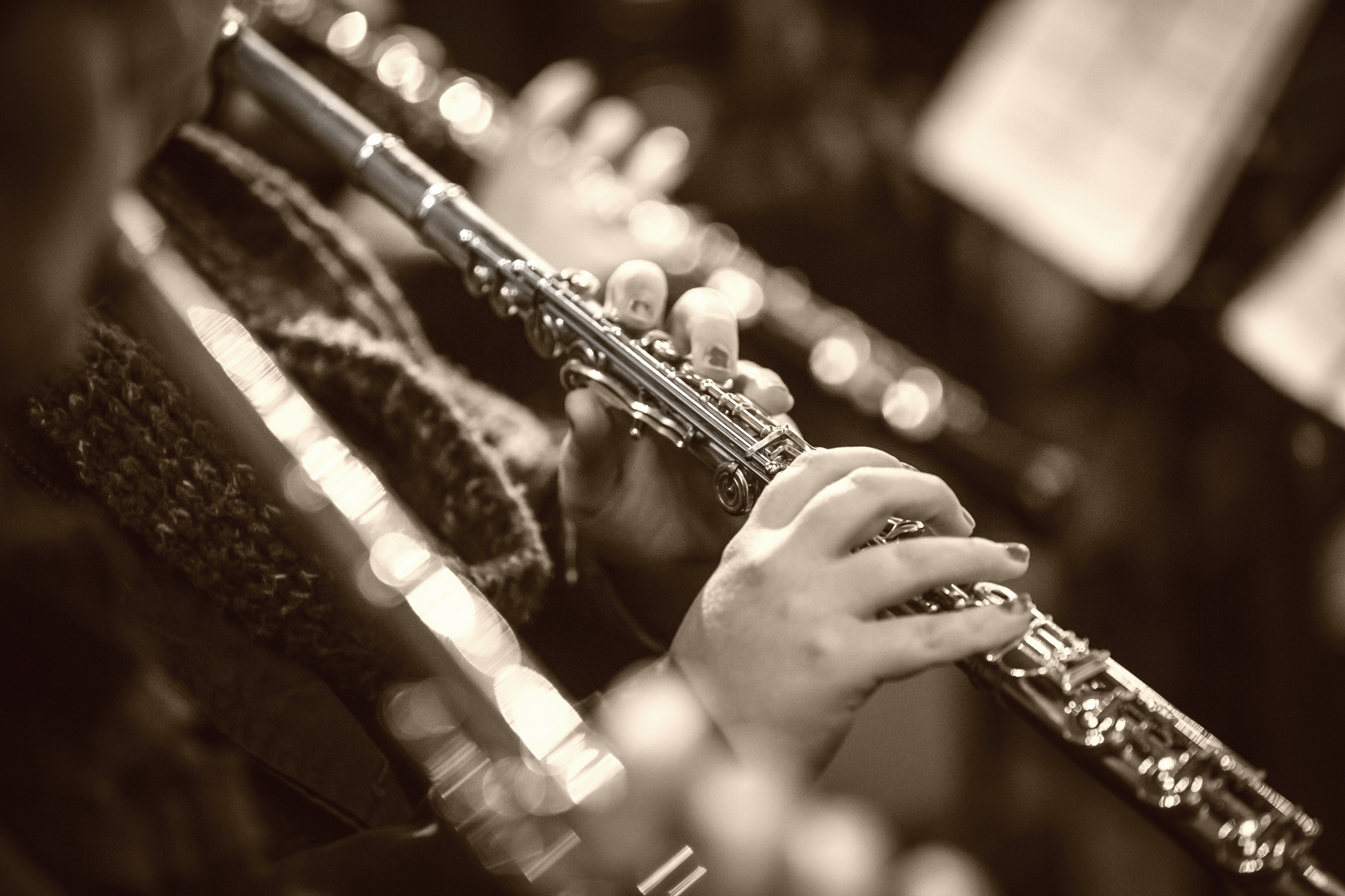 Flutist at Meson Panza Verde