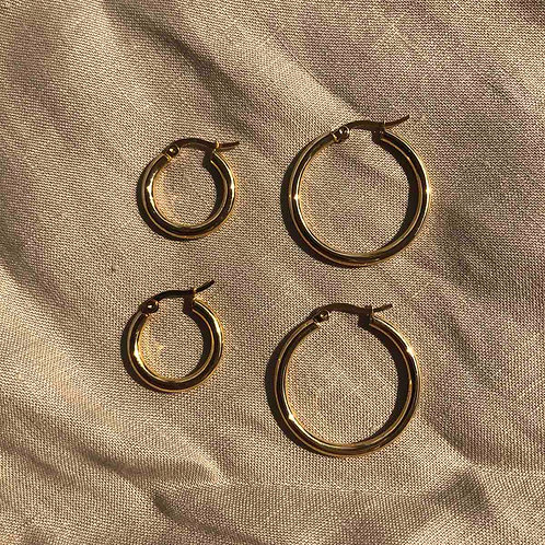 Plain Hoops with S Lock