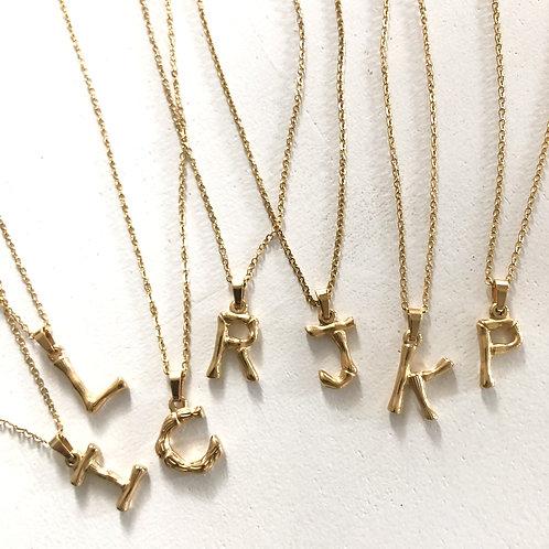 Bamboo Alphabet Necklace