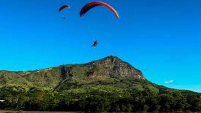 Paragliding over from Mt Subasio