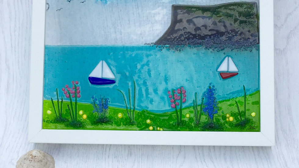 Fairhead in fused glass