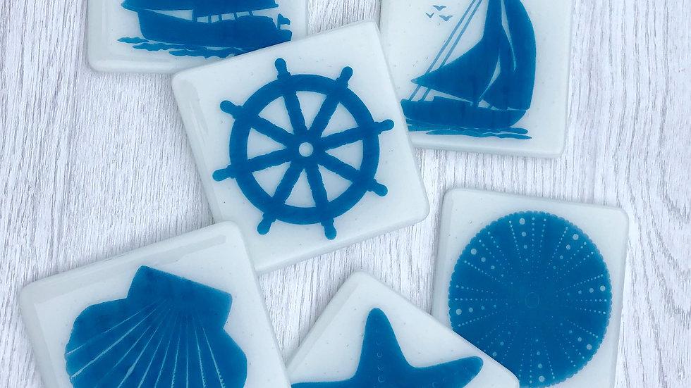 Nautical Coasters - single / boxed