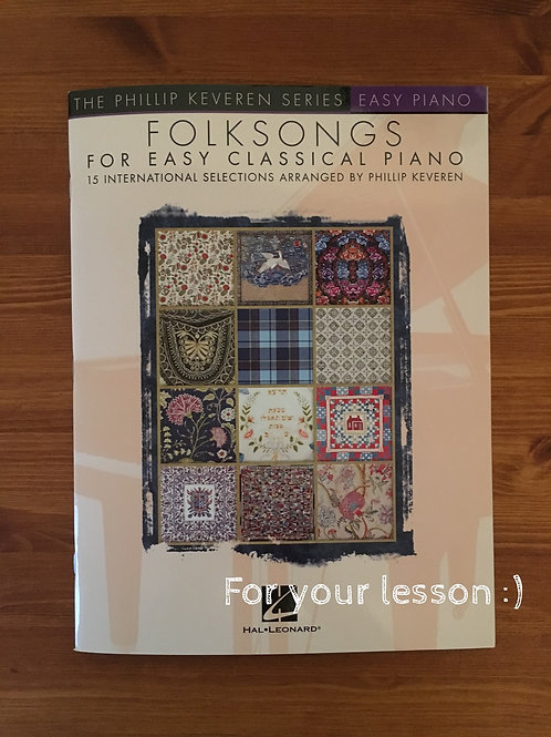 Folksongs for easy classical piano