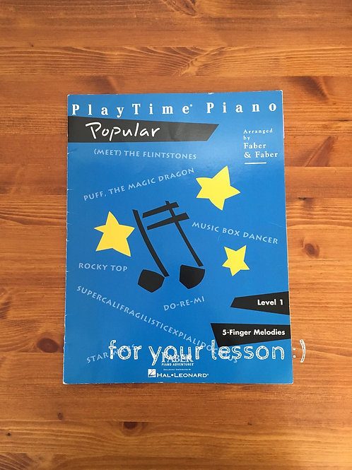 Play TimePiano Popular Level 1