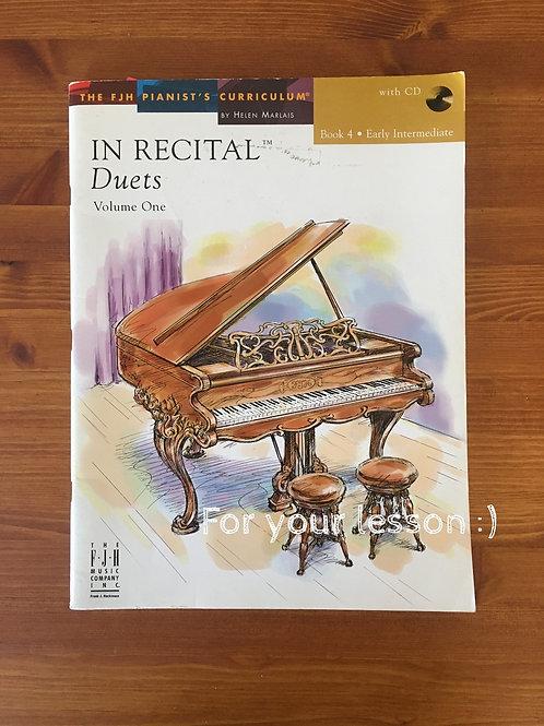 In Recital! Duets, Volume One, Book 4