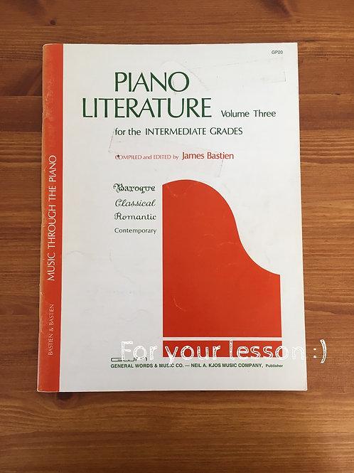 Piano Literature Volume Three