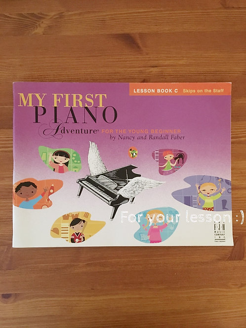 My First Piano Adventure, Lesson Book C with play along/listening CD for the You