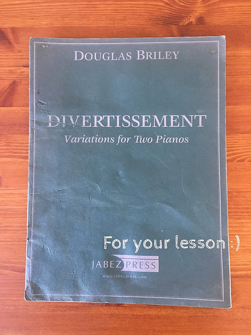 Divertissement: Variations for Two Pianos
