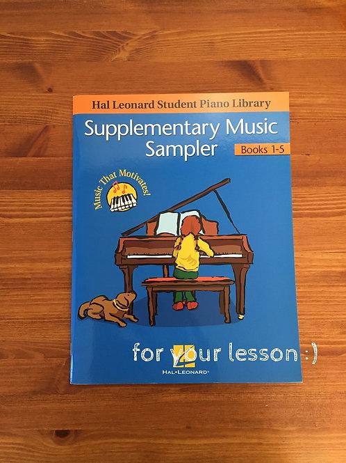Supplementary Music Sampler Book1-5