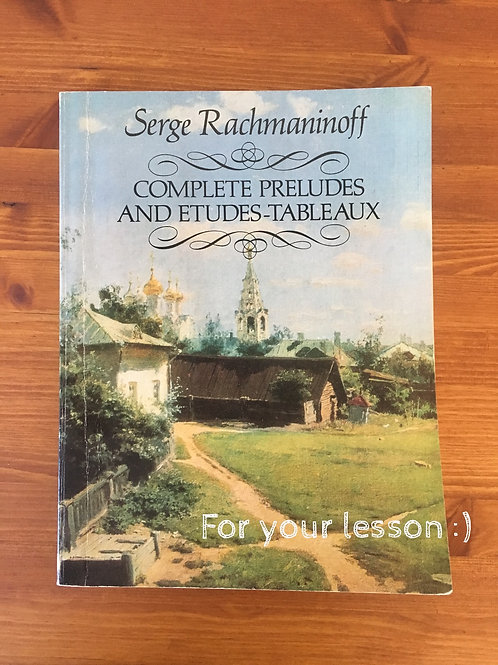 Complete Preludes and Etudes-Tableaux By Sergei Rachmaninoff